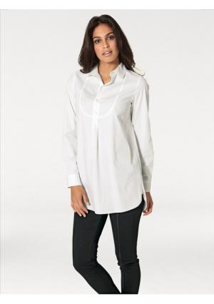 Удлиненная блузка Rick Cardona. Цвет: молочно-белый