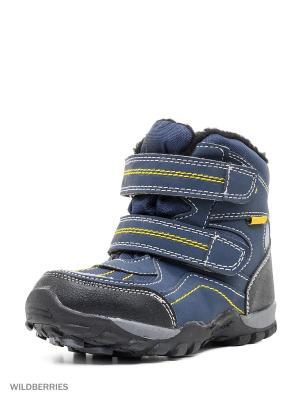 Ботинки комбинированные с верхом из текстильных материалов и синтетических кож детские. BRIS. Цвет: черный, синий