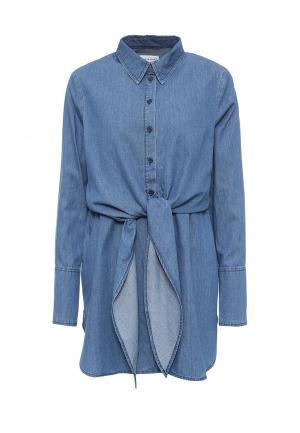 Рубашка джинсовая Warehouse. Цвет: синий