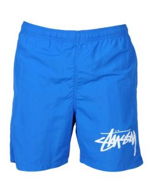 Пляжные брюки и шорты STUSSY. Цвет: синий