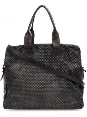 Фактурная сумка-тоут Numero 10. Цвет: чёрный