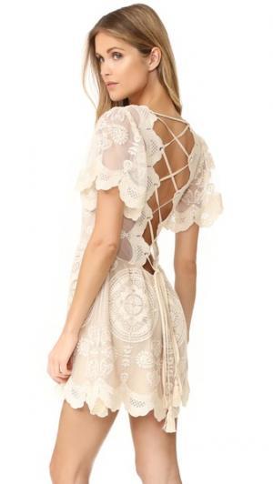 Мини-платье Mandala Imani Jen's Pirate Booty. Цвет: коричневый