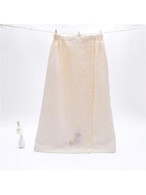 Накидка для сауны женская Dream time. Цвет: желтый