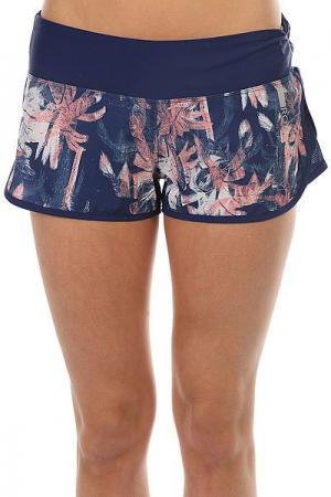 Шорты пляжные женские  Thats A Lap Sh Blue Depths Washed Roxy. Цвет: синий,розовый,белый