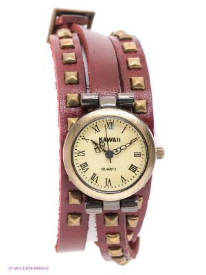 Часы Kawaii Factory. Цвет: темно-красный