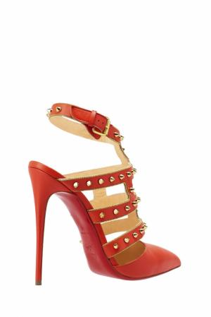 Кожаные туфли Tchicaboum 120 Christian Louboutin. Цвет: красный