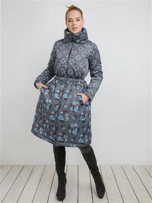 Пальто MAYAMODA. Цвет: серый, голубой
