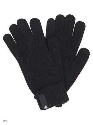 Перчатки PERF GLOVES CON  BLACK/BLACK/WHITE Adidas. Цвет: черный