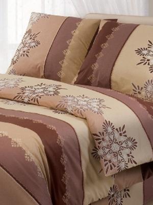 Комплект постельного белья Волшебная ночь. Цвет: коричневый, бежевый