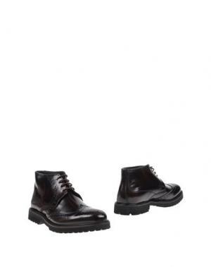 Полусапоги и высокие ботинки BRAWN'S. Цвет: темно-коричневый