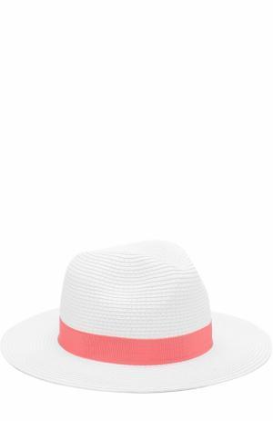 Пляжная шляпа Fedora с лентой Melissa Odabash. Цвет: красный
