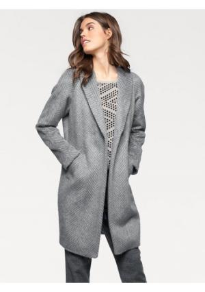 Пальто LINEA TESINI by Heine. Цвет: серый