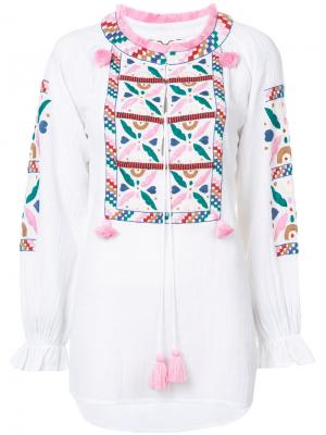 Блузка Lou Figue. Цвет: белый