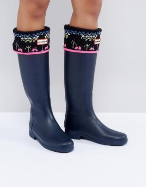 Hunter Толстые вязаные носки Original Arcade. Цвет: черный