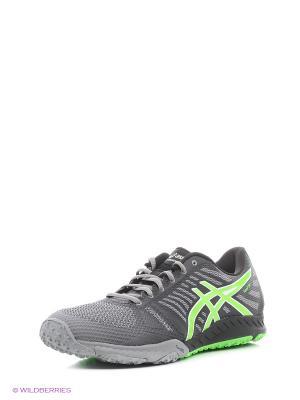 Спортивная обувь fuzeX TR ASICS. Цвет: серый, зеленый, черный