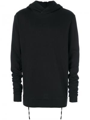 Rib detail hoodie Thom Krom. Цвет: чёрный