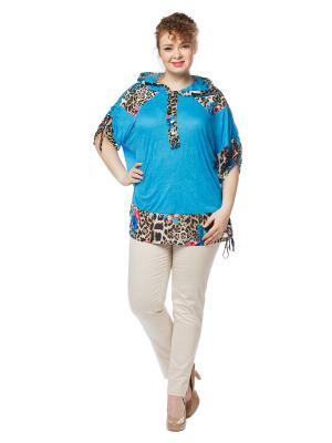 Блузка BERKLINE. Цвет: голубой