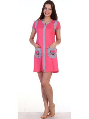 Халат Ева Vilana. Цвет: розовый