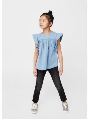Блузка - OLGA Mango kids. Цвет: синий