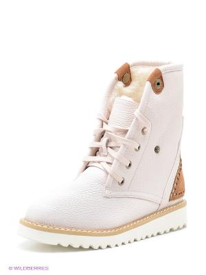 Ботинки Betsy. Цвет: бледно-розовый