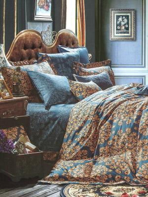 Комплект постельного белья Sofi de Marko. Цвет: синий, коричневый