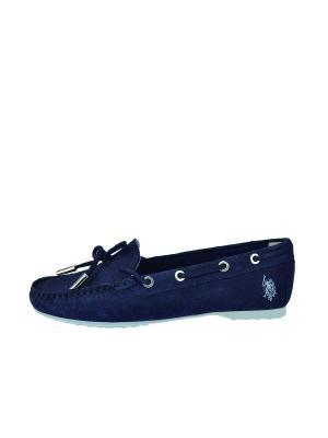 Топсайдеры U.S. Polo Assn.. Цвет: темно-синий