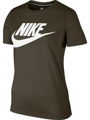 Футболка W NSW ESSNTL TEE HBR Nike. Цвет: хаки