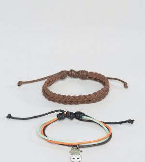 Classics 77 Комплект из двух браслетов с различным дизайном. Цвет: мульти