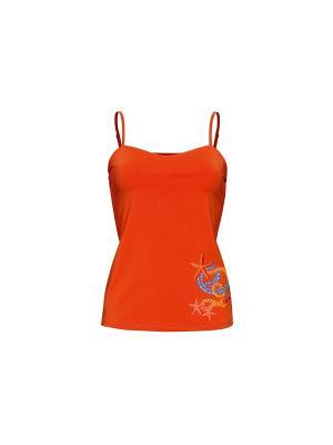 Майка PELICAN. Цвет: оранжевый