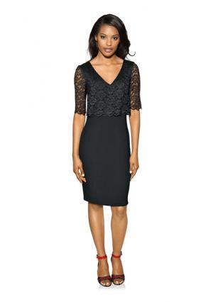 Вечернее платье PATRIZIA DINI. Цвет: черный