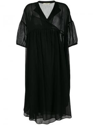 Платье-рубашка свободного кроя Odeeh. Цвет: чёрный