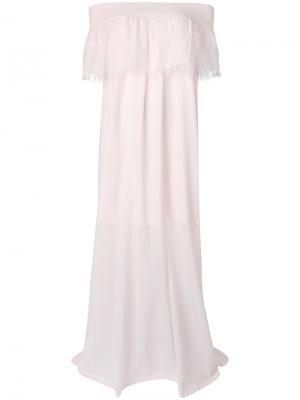Расклешенное платье макси Michel Klein. Цвет: розовый и фиолетовый
