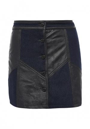 Юбка джинсовая Urban Bliss. Цвет: синий