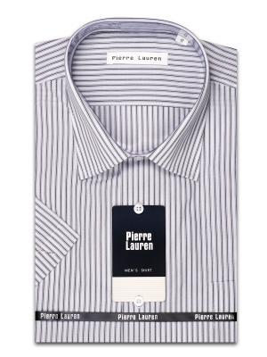 Рубашка Pierre Lauren. Цвет: серый, белый