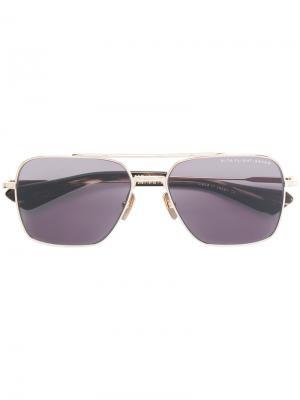 Солнцезащитные очки с квадратной оправой Flight Dita Eyewear. Цвет: металлический