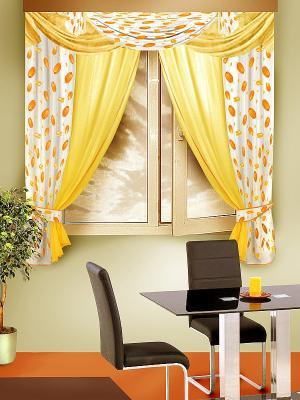 Комплект штор ZLATA KORUNKA. Цвет: желтый