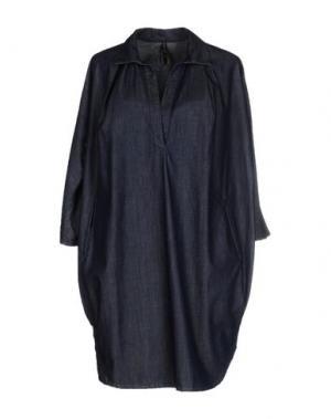 Короткое платье MANILA GRACE. Цвет: синий