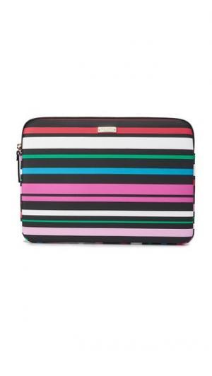 Чехол Fiesta в полоску для ноутбука с экраном диагональю 13 дюймов Kate Spade New York. Цвет: черный мульти