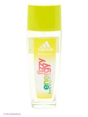 Освежающая парфюмированная вода для женщин adidas Fizzy Energy 75 мл. Цвет: желтый
