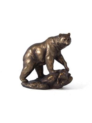 Фигурка декоративная Медведь 23*13*23см Русские подарки. Цвет: бронзовый