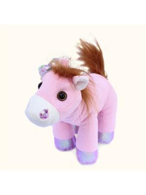 Мягкая игрушка Лошадка с бубенцами Malvina. Цвет: розовый