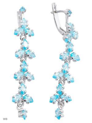 Серьги ACCENT jewelry. Цвет: голубой