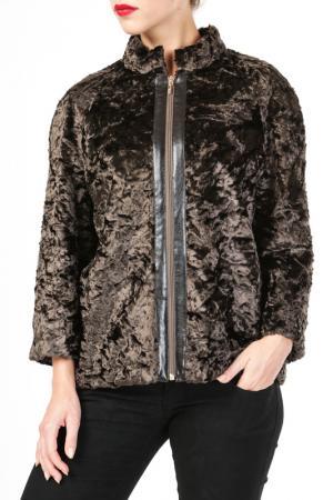 Куртка DONNA ENRICA. Цвет: коричневый
