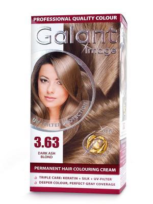 Cтойкая крем-краска для волос  GALANT 3.63 темный пепельно-русый, 115 мл., (Болгария) Image. Цвет: кремовый
