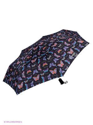 Зонты Isotoner. Цвет: черный, голубой, фиолетовый, оранжевый