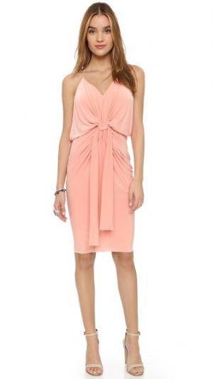 Платье до колен с узлом MISA. Цвет: розовый