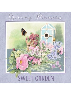 Картина - репродукция Любимый сад Magic Home. Цвет: голубой,бежевый,розовый