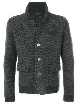 Кардиган-пиджак Zanone. Цвет: серый