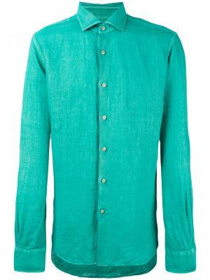 Рубашка кроя слим Xacus. Цвет: зелёный