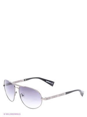 Солнцезащитные очки BLD 1410 201 Baldinini. Цвет: серебристый